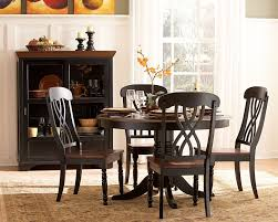 black kitchen dining sets: ohana black round dining set bk  ohana black round dining set