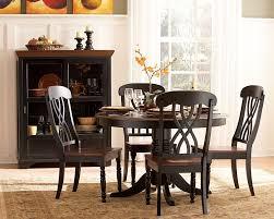 black kitchen dining sets: ohana black round dining set bk  ohana black round dining set