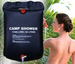 20L Portable Outdoor <b>Camping Shower</b> Bag <b>Solar Heated Shower</b> ...