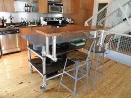 dining table with wheels: furniture small kitchen and dining room design with industrial table furniture with wheels and rack