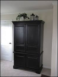 armoire re do hoping this inspires me to tackle our bedroom furniture i black painted bedroom furniture