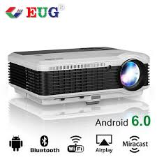Android LCD <b>LED WIFI Wireless</b> Bluetooth HD Projector Home ...