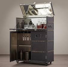 mayfair black bar cart bar trunk furniture