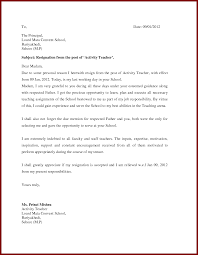 teacher resignation letter to principal sendletters info resignation letter f by amit kuklod teacher