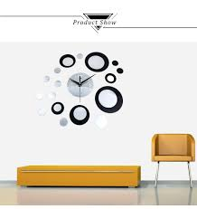 <b>DIY Creative</b> Round Mirror <b>Wall Clock</b> Stickers Home Decor C | eBay