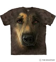 German Shepherd Portrait - The Mountain Adult Unisex T-Shirt