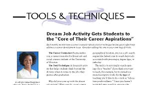 """work aspirations Dream Job Activity Gets Students to the """"Core of Their Career ... Dream"""