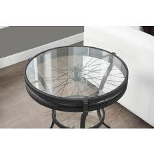 marble dining table adecc: hammered black accent table with tempered glass