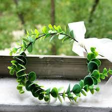 2019 Artificial <b>Green Plant</b> Garland Headdress Eucalyptus Rattan ...