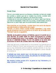 imgjpg spanish essays spanish oral presentation   gcse modern foreign languages   marked  spanish