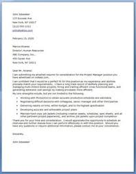 outstanding cover letter examples   hr manager cover letter    project manager cover letter examples