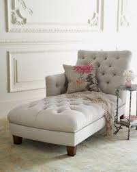 home decor long and white tufted chaise lounge chair that look so comfortable and elegant with modern design with cute cushions and small roung table with chaise lounge bedroom chairs