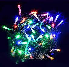 Светодиодная гирлянда 24V Quality <b>Light</b> 100 разноцветных LED ...