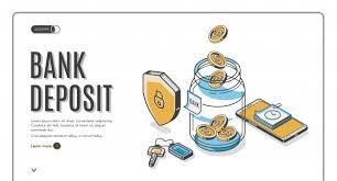 Изометрическая целевая страница банковского вклада ...