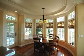 whitebrown dining room color with built in seat light fixture glass casual dining room lighting