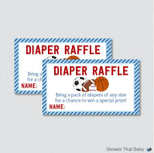 sports diaper raffle sports themed baby shower diaper raffle tickets and diaper raffle sign printable instant sports diaper raffle blue red 0015 b