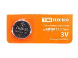 Купить CR2025 - <b>TDM</b>-<b>Electric</b> Lithium 3V BP-5 SQ1702-0028 (1 ...