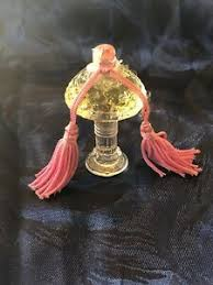 Vtg <b>Borsari Bouquet Di Violette</b> Perfume Bottle Figural W/ Tassel ...