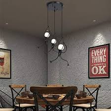 HDJLI <b>Retro Iron Swing Figure</b> Pendant Lights Metal Hanging Lamp ...