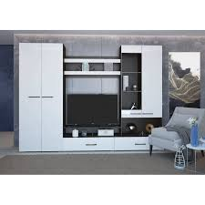 Модульная мебель для <b>гостиной</b> Ненси (<b>венге</b>-<b>белый</b> глянец ...