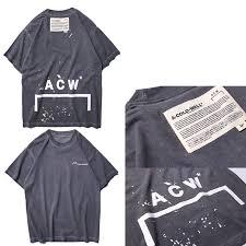 <b>A COLD WALL ACW T shirt</b> Wen Hight Quality Top Tees Solid O Hip ...