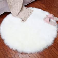 Luxury Living Room Seat Pad Carpet <b>Hairy Round</b> Home ...