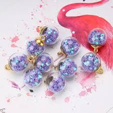 <b>10pcs</b>/<b>set 15mm</b> Multicolor <b>Tiny</b> Star Glass Ball Charms Pendant ...