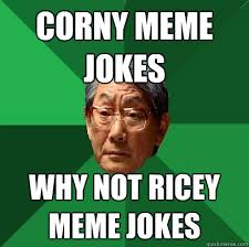 corny meme jokes why not ricey meme jokes - High Expectations ... via Relatably.com
