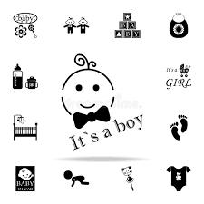 <b>Надпись</b> логотипа <b>значок</b> мальчика <b>Комплект значков</b> младенца ...