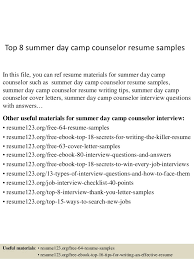 counselor resume sample resume school counselor resume objective for top 8 summer day camp counselor resume chemical dependency counselor resume