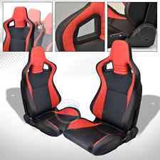 mu blkred pvc leather stitches reclinable racing bucket seatssliders pair c33 fits bmw z3 bmw z3 office chair seat