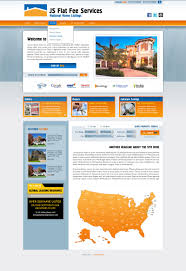 fsbo flat fee real estate web site development and web design for view full screenshot style orange