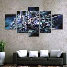 <b>5 Piece HD Print</b> Painting Gundam Modern For Home Decor ...