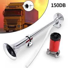 <b>150dB 12V Single Trumpet</b> Air Horn Chrome For Truck | Shopee ...
