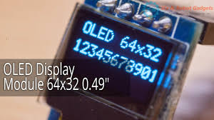 """Обзор <b>OLED Display</b> Module 64x32 <b>0.49</b>"""" от icstation - YouTube"""