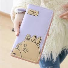 Anime Totoro Zipper Cartoon <b>Fashion Women Long Wallet</b> Coin ...