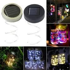 Qoo10 - 3x <b>1M</b>/<b>2M</b> Solar <b>Mason Jar</b> Lid Lights <b>LED</b> Fairy Light for ...