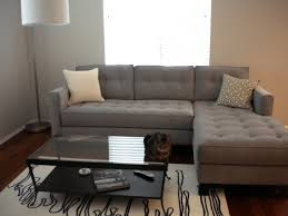 corner gray leather sleeper sofa cheap furniture for small spaces