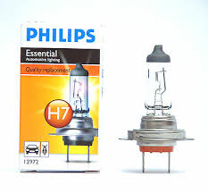 1pc Philips Essential H7 Halogen <b>Headlamp</b> 12V 55W PX26d ...