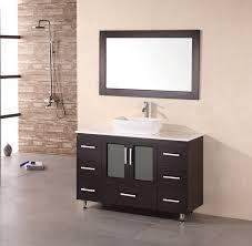 element contemporary bathroom vanity set: design element stanton x modern bathroom vanity set w vessel sink