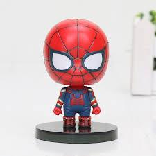 The Avengers Spiderman Infinity War Iron Spider Man Cartoon Toy ...