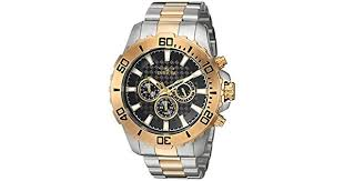 Invicta Pro Diver Chronograph <b>Men's</b> Black Dial <b>Stainless Steel</b> ...
