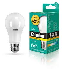 <b>Camelion</b> LED9-<b>A60</b>/<b>830</b>/<b>E27</b> (Эл.<b>лампа светодиодная</b> 9Вт 220В)