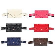 Classic Women <b>Stone Pattern PU</b> Waist Pack Pouch Pure Purse ...