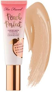 <b>Too Faced Peach Perfect</b> Comfort Matte Foundation Peaches and ...