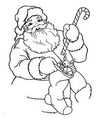 Small Picture Santa Claus Holding a Candy Cane and Christmas Stocking on