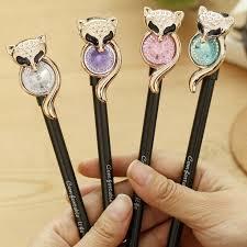 <b>4pcs</b> / <b>Lot Cute</b> Fox Owl Gel Pen <b>Kawaii</b> Korean Stationery <b>Creative</b> ...