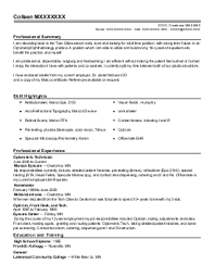 optometrist assistant resume example  professional vision care    xxxx x  optometry