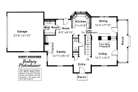 Colonial House Plans   Rossford     Associated DesignsColonial House Plan   Rossford     st Floor Plan