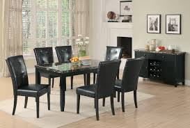 dining chairs ashley upholstered chair set anisa collection  dark faux marble casual dining table set